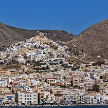 Landscape of Ermoupoli town, Syros, Cyclades Islands