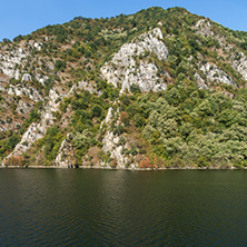 Summer view of Krichim dam, Rhodopes Mountain, Bulgaria