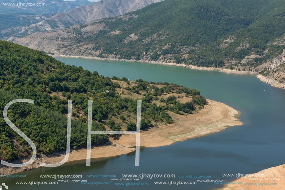 Amazing Landscape of Arda River meander and Kardzhali Reservoir, Bulgaria