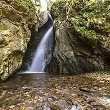 Amazing Landscape of Fotinovo waterfalls (Fotinski waterfall) in Rhodopes Mountain, Pazardzhik region, Bulgaria