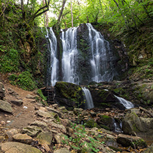 Landscape of Koleshino waterfalls cascade in Belasica Mountain, Novo Selo, Republic of Macedonia