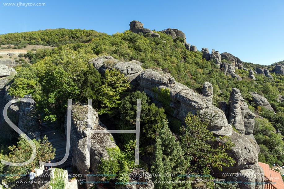 Amazing landscape of Rocks formation near Meteora, Thessaly, Greece