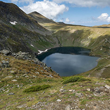 Summer view of The Eye Lake, Rila Mountain, The Seven Rila Lakes, Bulgaria