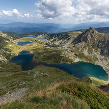 Summer view of The Twin, The Trefoil, The Fish and The Lower, Rila Mountain, The Seven Rila Lakes, Bulgaria