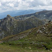 Summer view of Rila Mountan near The Seven Rila Lakes, Bulgaria