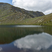 Summer view of The Tear lake, Rila Mountain, The Seven Rila Lakes, Bulgaria