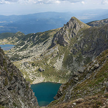 Summer view of The Twin lake, Rila Mountain, The Seven Rila Lakes, Bulgaria