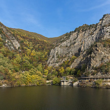 Amazing Autumn landscape of The Krichim Reservoir, Rhodope Mountains, Plovdiv Region, Bulgaria