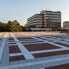 BLAGOEVGRAD, BULGARIA - OCTOBER 6, 2018: The Center of town of Blagoevgrad, Bulgaria