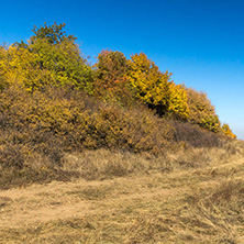 Amazing Autumn Panorama of Cherna Gora (Monte Negro) mountain, Pernik Region, Bulgaria